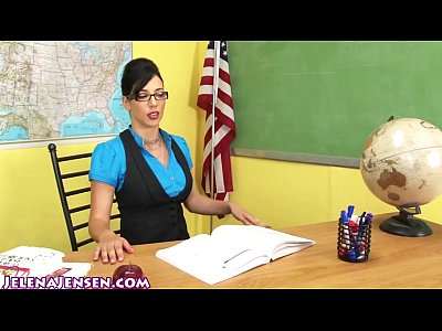 Bustymilf Dildo Fingering video: Sexy Professor Jelena Jensen Teaches a Lesson!