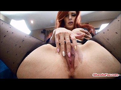 Bigtits Bigtits Brunette video: Canadian Crotchless Stocking Slut! Shanda Fay!