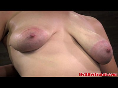 Fetish Domination Bondage video: Nipple sucked bitch getting caned