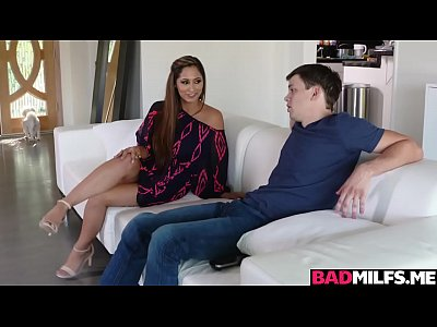Bad mom Reena fucks with stepson and gf Jill