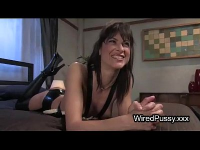 Naughty French Maid Is Strap On Fucked