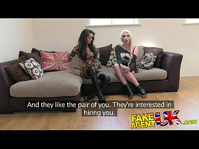 Hardcore British porno: FakeAgentUK Hardcore threesome with 2 dirty hot British girls