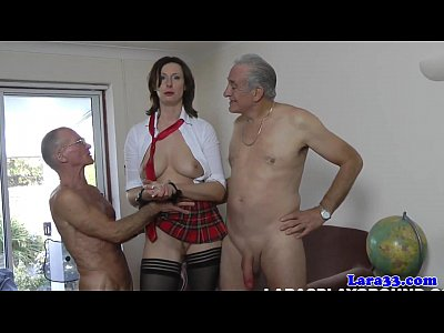 Fingering Fetish Facial video: Stockings milf in threeway facialized