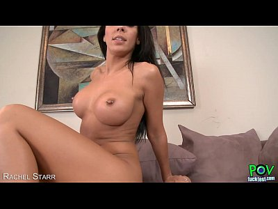 Tattooed babe Rachel Starr suck in POV