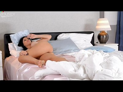 AnySex Sensual tanned brunette strokes her fake white boobs with sexy tan lines Published 2015-06-0