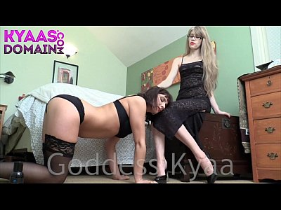 Bdsm Femdom Toys video: Slavegirl Janey Jones Gives Herself To Goddess Kyaa