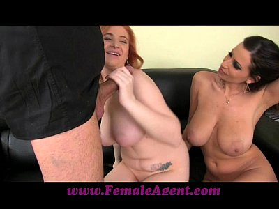 Boobs Teen Blowjob video: FemaleAgent Curvaceous redhead in first time casting