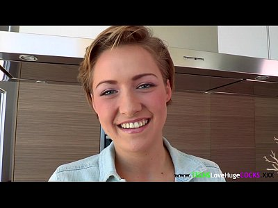 Teen Facial Babe vid: Shorthaired bigdick loving teen facialized