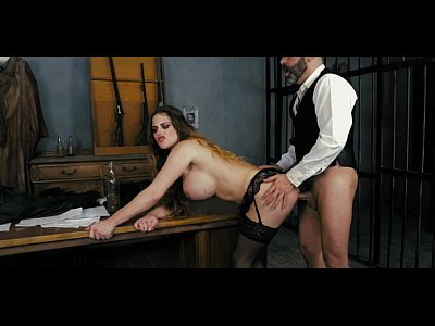 Assfucking Babe Bigtits video: HARMONY VISION Sheriff Anal banging the prisoner