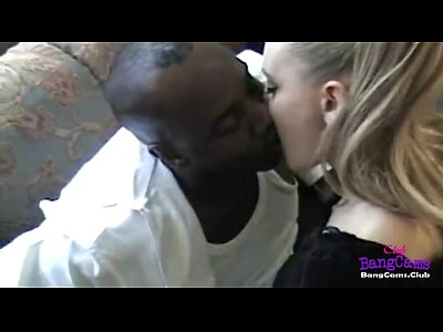 Teen Love Gf video: Ghetto Interacial White Teen Black BF on Sofa