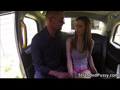 Amateur Public video: Damn hot blonde Stella Cox strips naked in the backseat to get a free ride