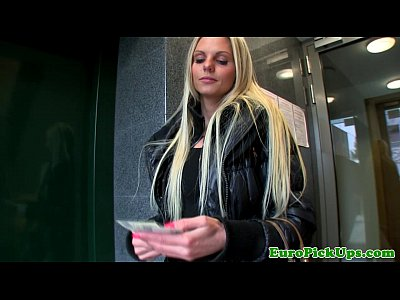 Pov Oral Teen video: Hot blonde euro babes bj for some cash