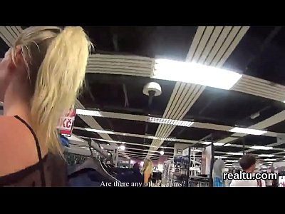 Striking czech teenie is teased in the mall and shagged in pov