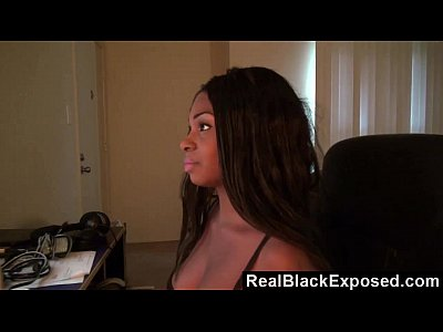 Interracial Pov Black video: Black GF Working Her Ass On His Lap