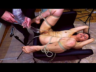 Enema video: Miss April Suffers An Inverted Glass Injection Enema