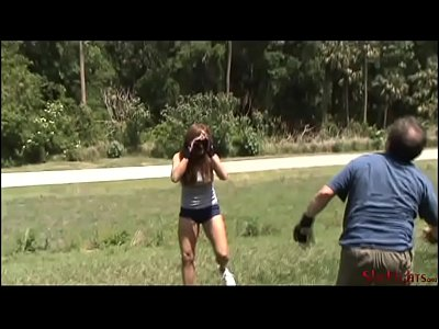 Outdoor Fight - Rachel vs English Guy