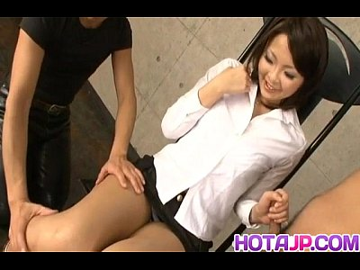 Blowjob Cock Cream video: Reina Mizuki gets cum in mouth from rubbed and sucked woodies