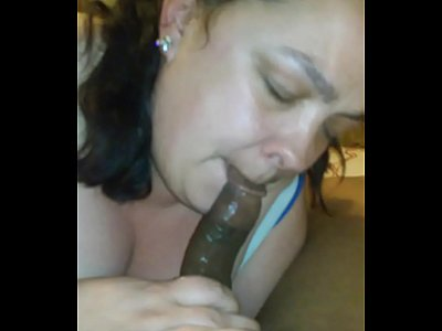 Interracial Bbw Ebony video: she love eating dick ass and cum