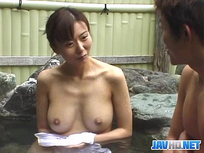 Japanese Blowjob Outdoor video: Dirty service in the jacuzzi