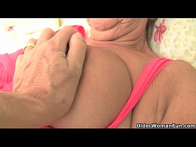 Grandma Grandmother Granny video: Chubby granny gets her old pussy fingered by photographer