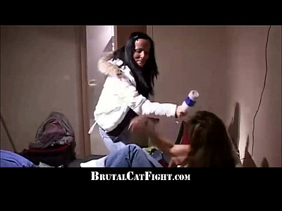 Blowjob Brunette Catfight video: Two sluts catfight like crazy for a ring