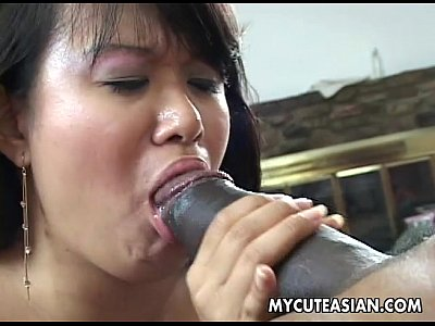 Asian Japanese Fuck video: Black dude has a hot Asian chick to ravage