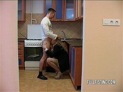 Bitching Teen Slut Hardcore Kitchen Ass Fucking
