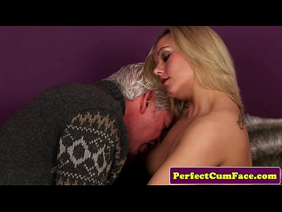 Blowjob British Cocksucking video: Blonde escort gets facial