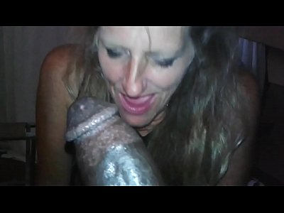 Kellie enjoys suckin on a big black cock.