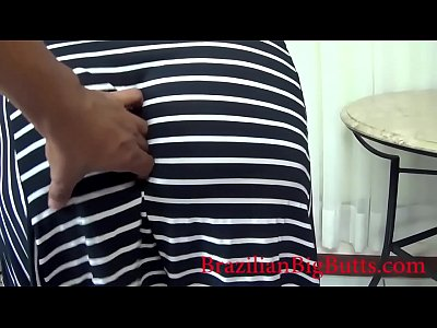 Ebony Chubby Thick video: BBW big ass wearing dress without panties