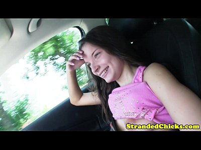 Voyeur Flashing Pov video: Hitch hiking teen wants drivers cock