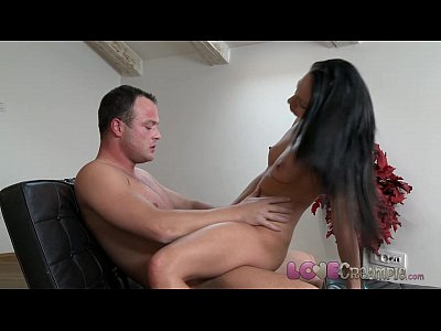 Blowjob Creampie movie: Love Creampie Sexy young babe with hard nipples slowly pumped full of cum