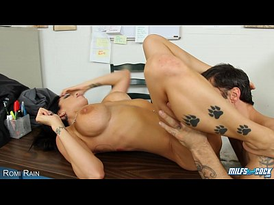 Tits Oral Blowjob video: Hot MILF Romi Rain take cock