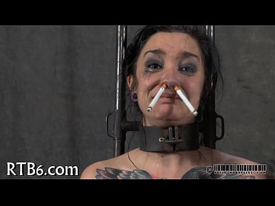 Bdsm Sex Fetish video: Painful clamping for beauty's zeppelins