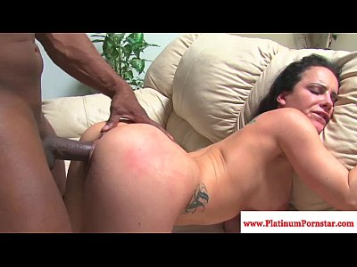 Interracial Hardcore porno: Katie St.Ives fucked deep by black cock