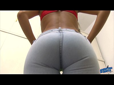 Busty Teen Cameltoe Wearing Jeans, Round Ass!