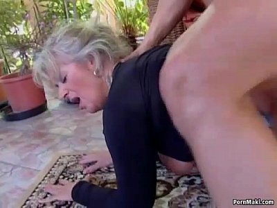 Big titted mom takes young cock 6 min