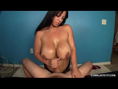 Handjob Milf Mature video: Big Cumblast For The Huge-Titted Lady