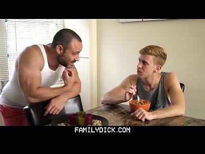 FamilyDick - Sexy stepson tempts horny muscle daddy with big raw cock
