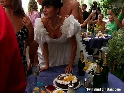 Gangbang Hardcore video: Whores suck and fuck at a wedding