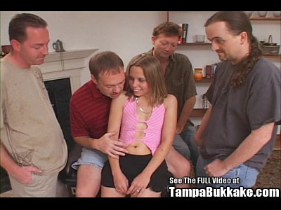 Bukkake Group Teen video: Tiny Teen Slut Bukkake Gang Bang!