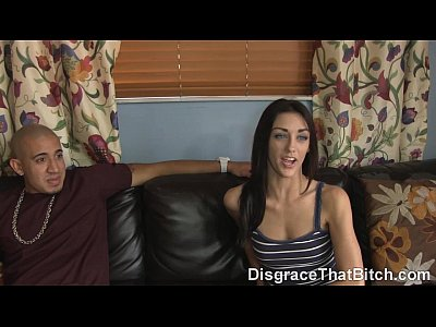 Blowjob Brunette Doggystyle video: Disgrace That Bitch - The fucking of a babysitter