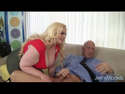 Bbw Tits Chubby video: Platinum blonde BBW Klaudia Kelly takes a fat dick