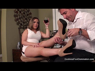 Domination Footfetish Footworship video: Desperate Husband