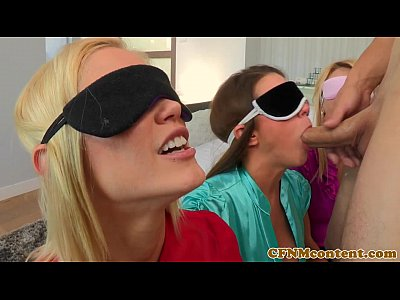 Fetish Blowjob Facial video: Blindfolded cfnm babe Natalia Starr bj