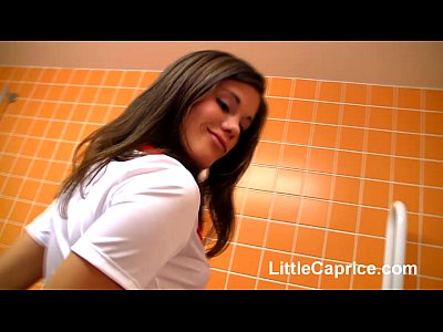 Hot nurse little caprice masturbates on the toilet seat