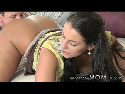 Brunette Kissing xxx: MOM Cock loving Brunette get filled