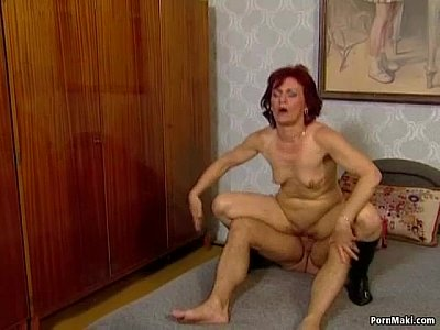 Blowjob Cumshot Facial video: German granny gets assfucked