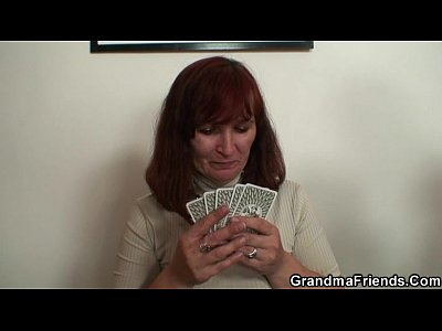 Granny Wife Mom video: Hard 3some with oldie after strip poker