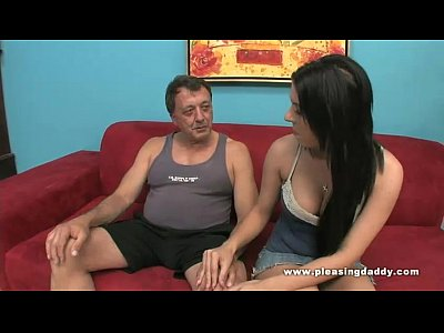 Brunette Handjob Sucking video: Daddy's Quick Suck And Tug